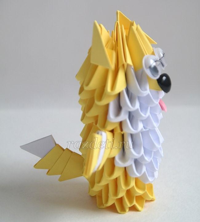 Собачка из модульного оригами 196