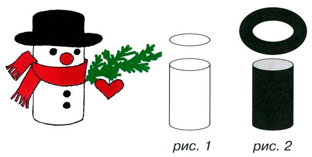 Как сделать шляпу снеговика своими руками из бумаги