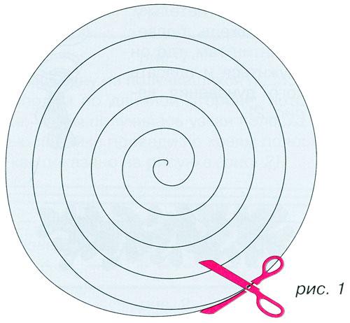 Как сделать спираль из бумаги