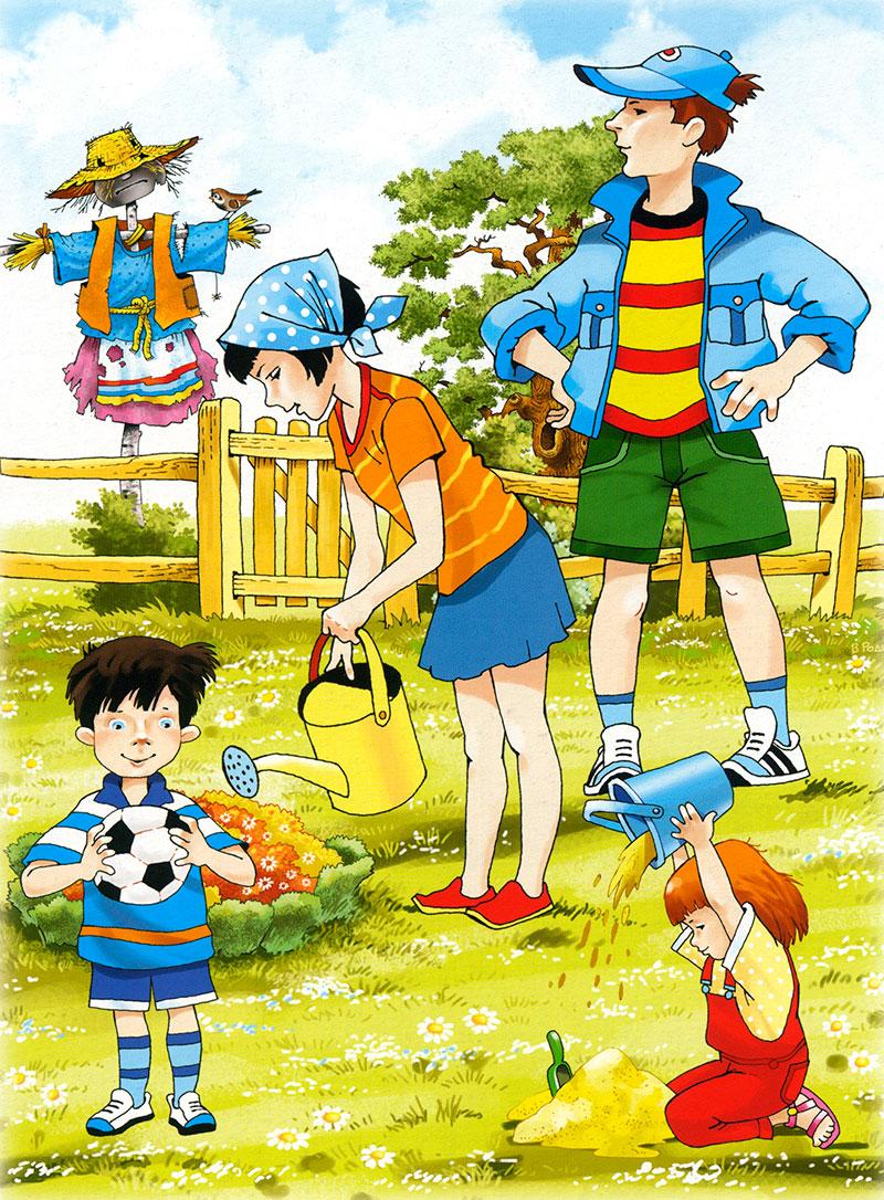 Картинки лето природа для детей детского сада