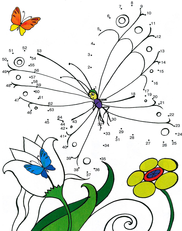 Рисунки по точкам или по цветам