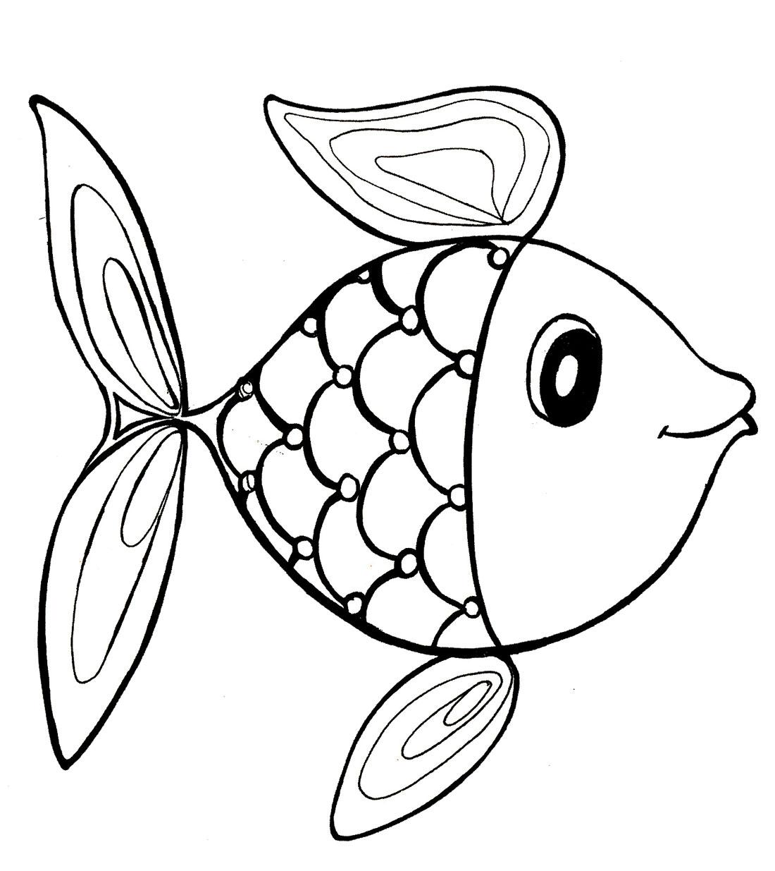 Раскраска. Рыбка: http://razdeti.ru/photos/photo414.html
