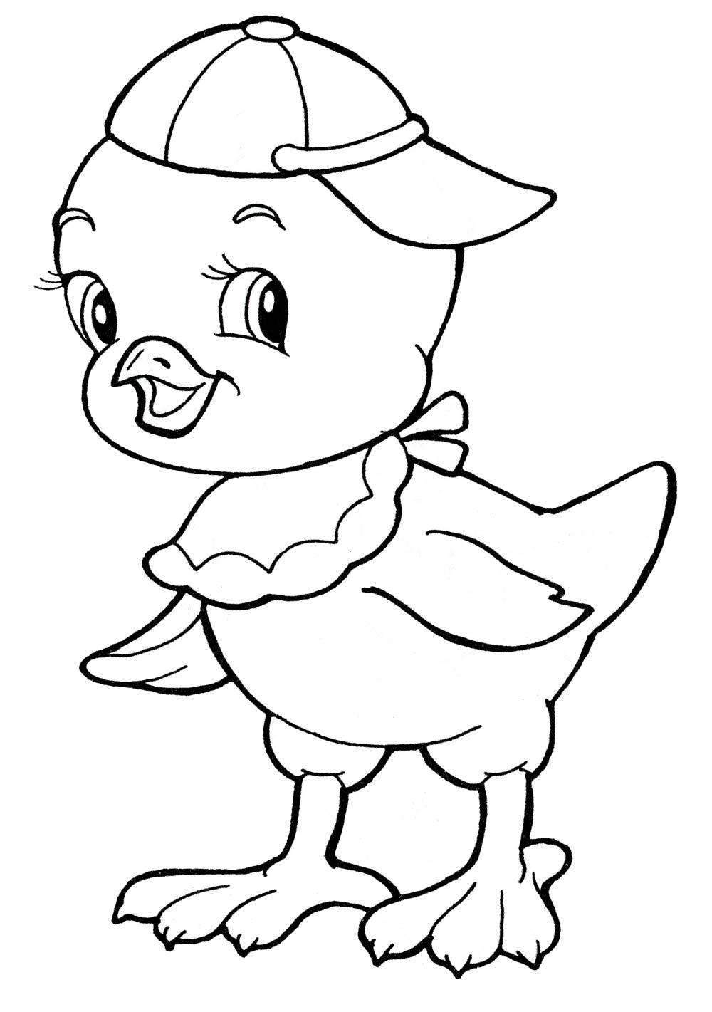 Раскраски цыплят распечатать бесплатно