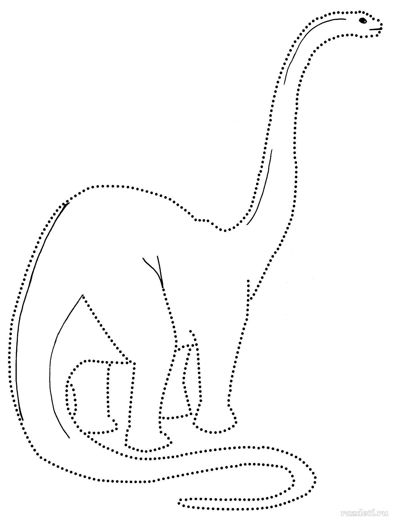 Раскраски для детей. Динозаврики