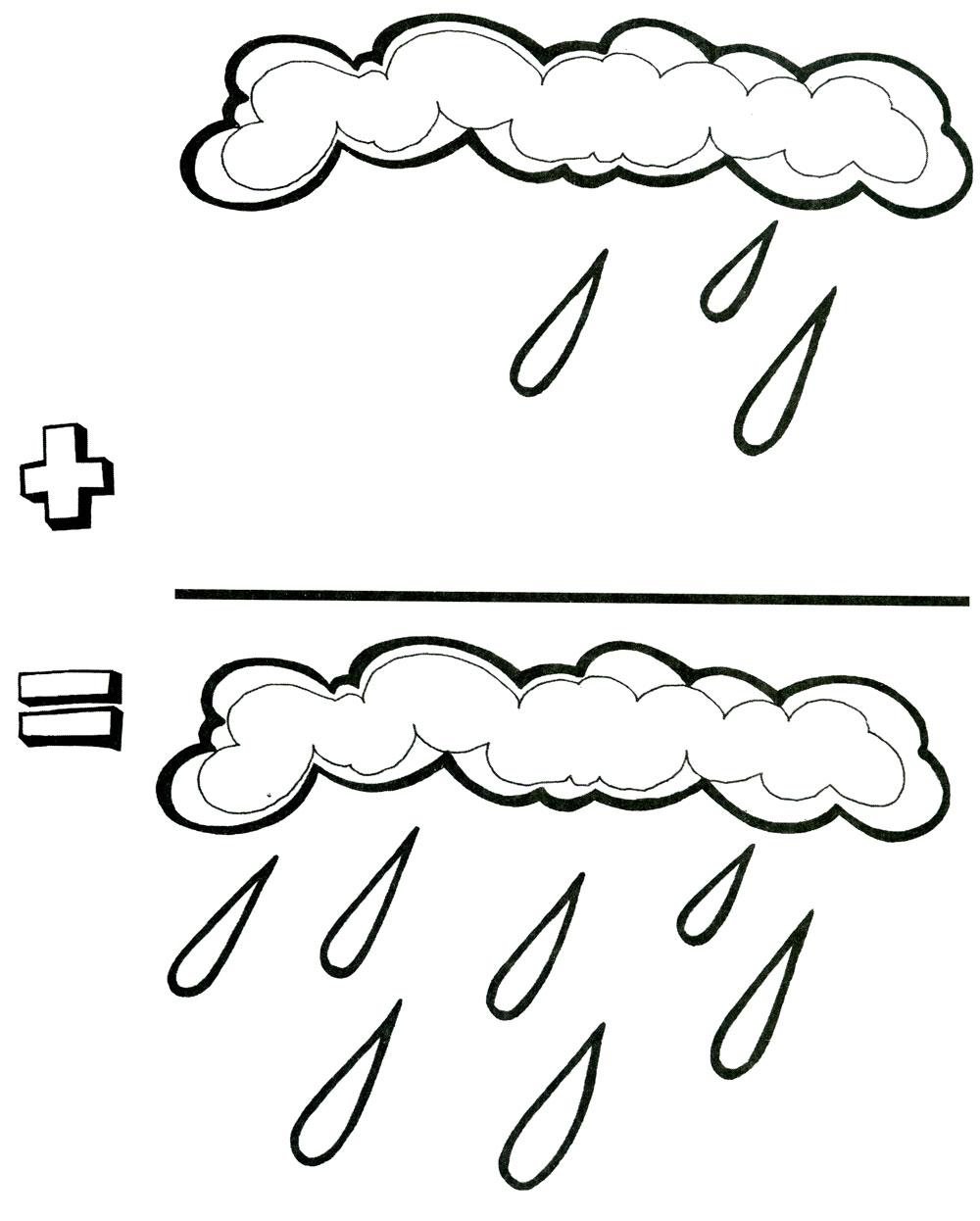 Раскраски дождя