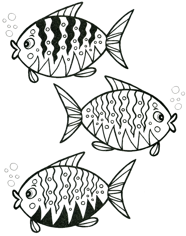 Раскраска. Рыбки