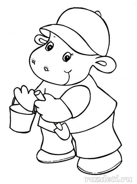 Раскраски для детей для детсада