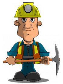 картинка шахтера для детей