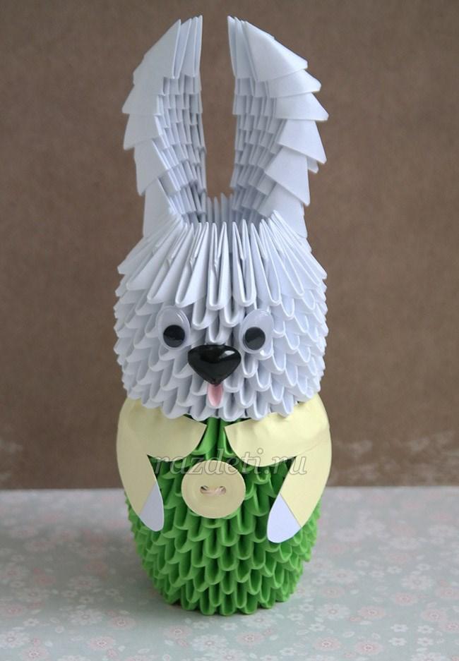 Зайчик модульное оригами картинки