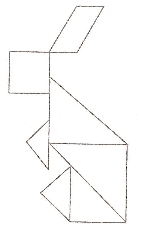 Танграм картинки заяц
