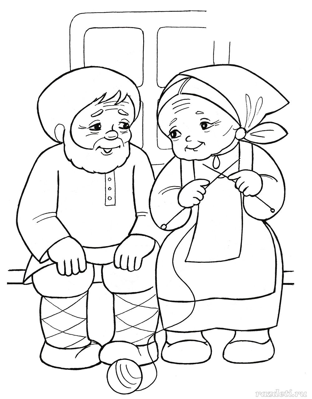 Раскраска к сказке «Колобок»