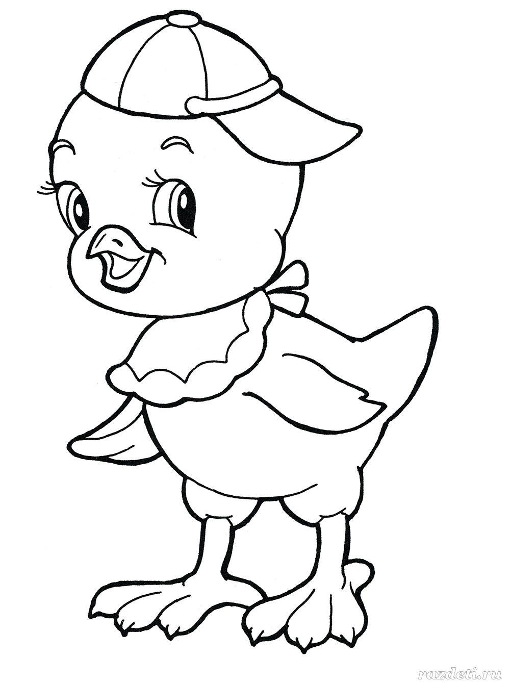Раскраски «Детеныши животных» для детей 4-7 лет распечатать