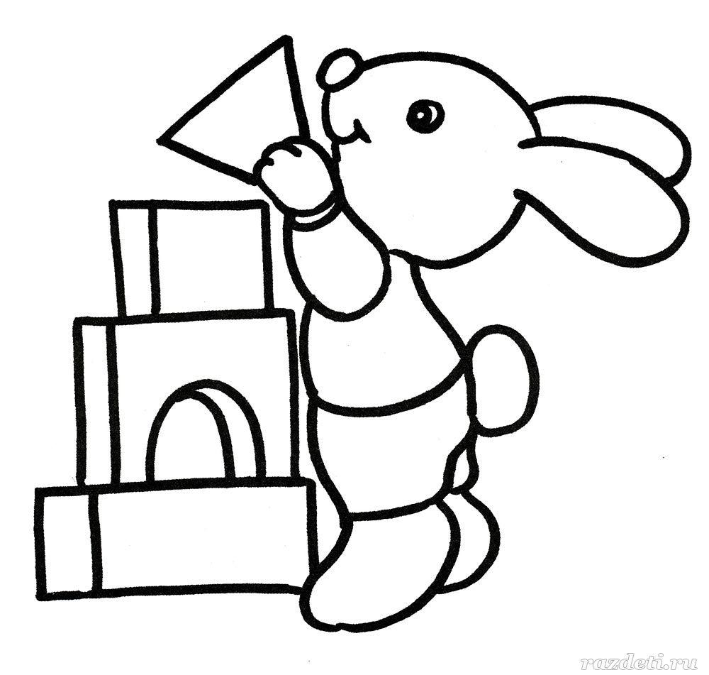 раскраски животные для детского сада