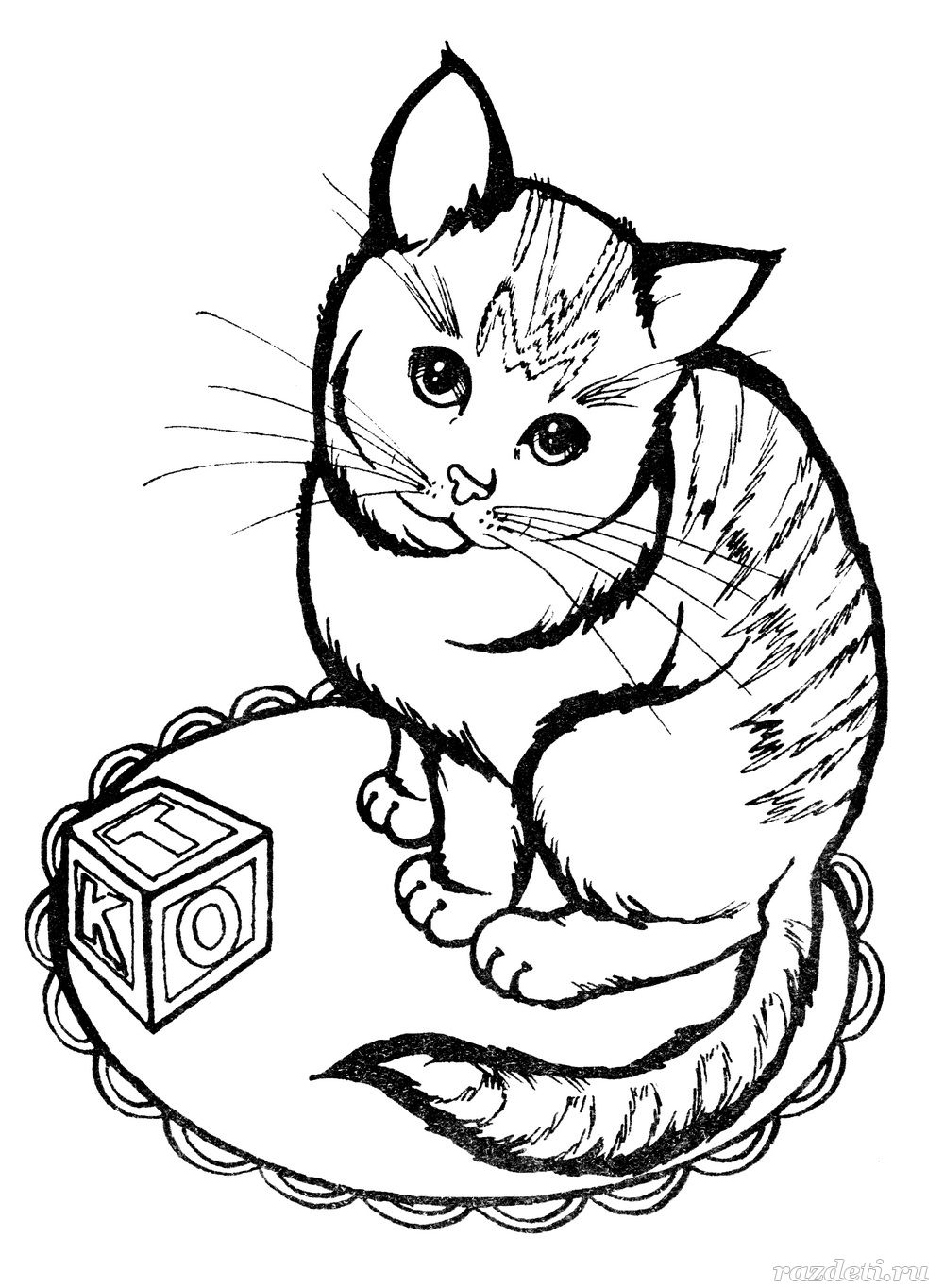 Котик. Раскраска