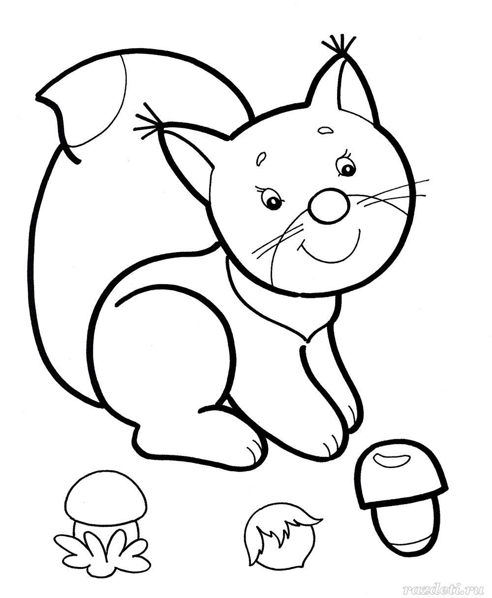 Раскраски для детей 3-4 лет «Животные» распечатать ...