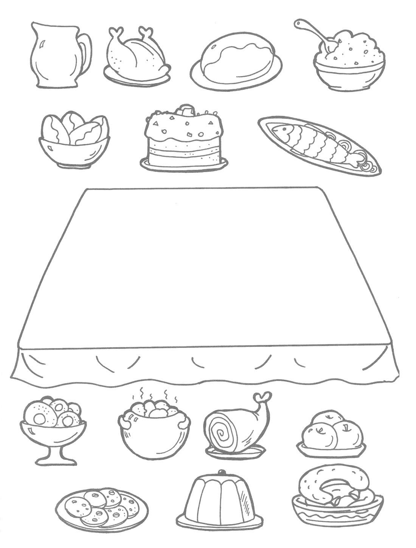 традиционные картинка проведи линию от продукта к тарелке для