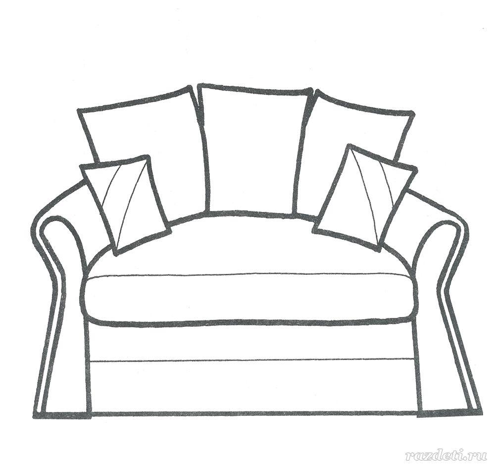 раскраски мебель для детей 3 4 лет распечатать бесплатно