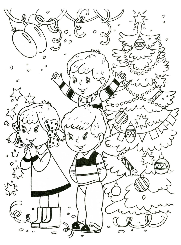 Раскраски для детей. Зима