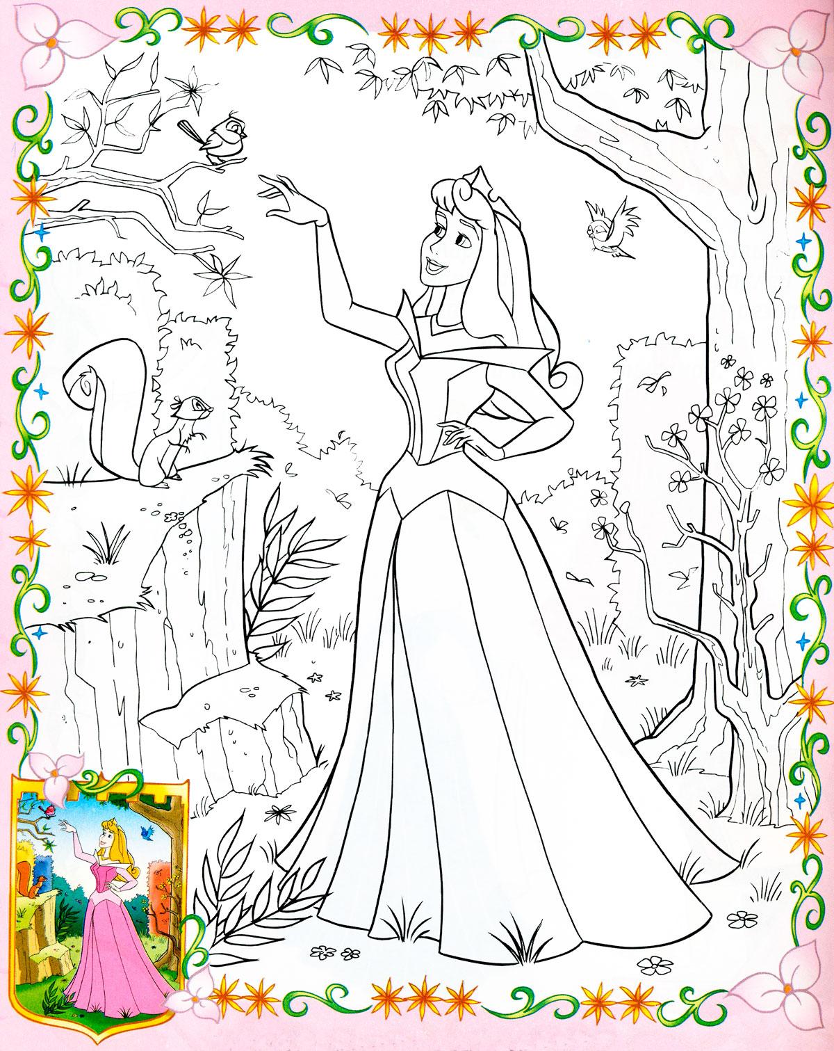Раскраска для девочек. Принцесса Аврора