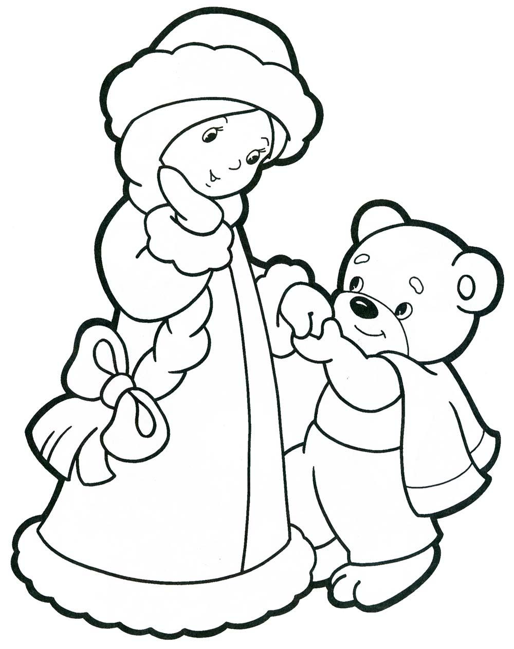 Новый год. Раскраски для малышей