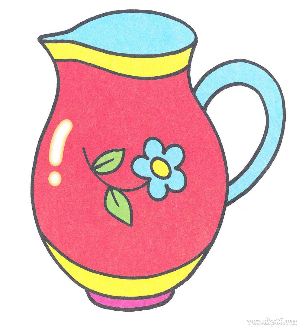 цветные картинки посуды для малышей анализирует